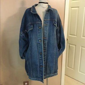 Extreme oversized vintage 90's jean jacket Sz 2X